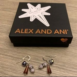 Alex And Ani Purple Drop Earrings